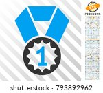 first place pictograph with 7... | Shutterstock .eps vector #793892962