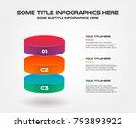 3d block  percentage... | Shutterstock .eps vector #793893922