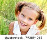 portrait of adorable smiling... | Shutterstock . vector #793894066
