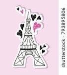hand drawn eiffel tower   Shutterstock .eps vector #793895806