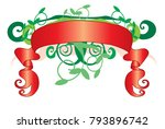 red tapes with green vegetation | Shutterstock .eps vector #793896742