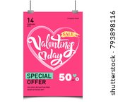 valentine s day sale tamplate...   Shutterstock .eps vector #793898116