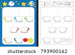 preschool worksheet for... | Shutterstock .eps vector #793900162
