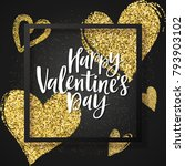 happy valentine's day greeting ... | Shutterstock .eps vector #793903102
