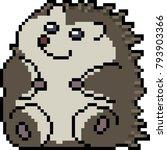 vector pixel art porcupine... | Shutterstock .eps vector #793903366
