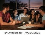 group of young professionals... | Shutterstock . vector #793906528
