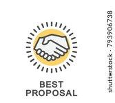icon best proposal. handshake... | Shutterstock .eps vector #793906738
