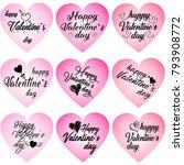 happy valentine's day card.... | Shutterstock .eps vector #793908772