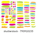 collection of hand drawn... | Shutterstock .eps vector #793910155
