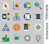 icons set about marketing. with ... | Shutterstock .eps vector #793913656