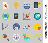 icons set about marketing. with ... | Shutterstock .eps vector #793913845