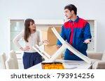 contractor repairman assembling ...   Shutterstock . vector #793914256