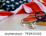 close up photo of stethoscope... | Shutterstock . vector #793915102