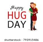 couple hug. flat vector...   Shutterstock .eps vector #793915486