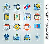 icon set about education and... | Shutterstock .eps vector #793920916