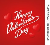 happy valentines day typography ... | Shutterstock .eps vector #793921342