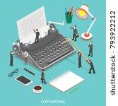 copywriting flat isometric... | Shutterstock .eps vector #793922212