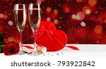 valentines day celebration with ... | Shutterstock . vector #793922842