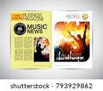 music event magazine. easy to... | Shutterstock .eps vector #793929862
