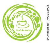 cup of matcha latte  isolated... | Shutterstock .eps vector #793933936