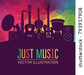 colorful music background.... | Shutterstock .eps vector #793937908