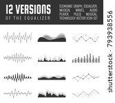 vector sound waves set. audio...   Shutterstock .eps vector #793938556
