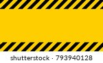 Black And Yellow Warning Line...