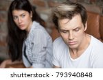young sad cheated man thinking... | Shutterstock . vector #793940848