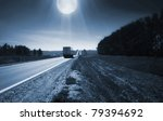 blue night with moon | Shutterstock . vector #79394692