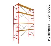 scaffolding metal construction... | Shutterstock . vector #793947082