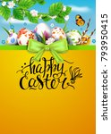 template vector card with... | Shutterstock .eps vector #793950415