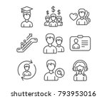 set of id card  human resources ... | Shutterstock .eps vector #793953016