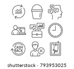set of business portfolio ... | Shutterstock .eps vector #793953025