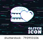 glitch effect. hamburger icon.... | Shutterstock .eps vector #793953106