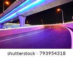 empty road floor with city... | Shutterstock . vector #793954318