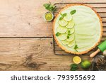 key lime pie | Shutterstock . vector #793955692