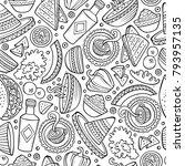 cartoon hand drawn latin... | Shutterstock .eps vector #793957135