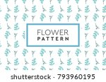 flower pattern vector. simple ... | Shutterstock .eps vector #793960195