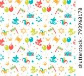 carnival seamless pattern.... | Shutterstock .eps vector #793968178