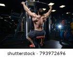 brutal sexy strong bodybuilder... | Shutterstock . vector #793972696