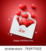 love letter of hearts vector... | Shutterstock .eps vector #793977025