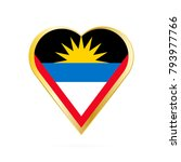 flag of antigua and barbuda in... | Shutterstock .eps vector #793977766