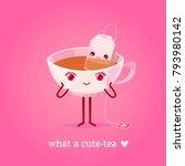 romantic valentine's day card.... | Shutterstock .eps vector #793980142