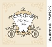wedding invitation design with... | Shutterstock .eps vector #79398040