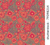floral seamless ornament ...   Shutterstock .eps vector #79398214