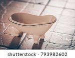 vintage tub on legs  selective...   Shutterstock . vector #793982602