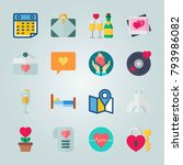 icon set about wedding. with... | Shutterstock .eps vector #793986082