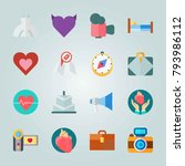 icon set about wedding. with... | Shutterstock .eps vector #793986112