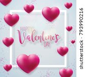 happy valentines day... | Shutterstock .eps vector #793990216