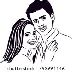 couple line art  people design | Shutterstock .eps vector #793991146